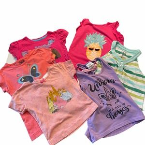 Girls Tanks and Tees Bundle of 6 Items Size 6